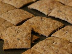 Home-aid Crackers using spent grain from brewing.
