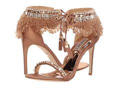 Badgley Mischka Katrina Women's Bridal Shoes Dark Nude Satin