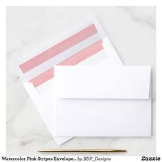 Shop Watercolor Pink Stripes Envelope Liner created by BDP_Designs. Pink Envelopes, Wedding Envelopes, Pumpkin First Birthday, Pink And White Stripes, Pink Birthday, Envelope Liners, Pink Girl, First Birthdays, Create Yourself