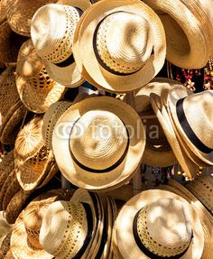Hats for sale in a cuban street market © kmiragaya