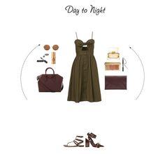 """Day to Night"" by zeynepkartal on Polyvore featuring moda, Valentino, Givenchy, Maison Margiela, Bobbi Brown Cosmetics, Ardency Inn, Hoola, Estée Lauder, Sunday Somewhere ve DayToNight"