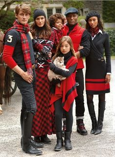 I would love a Family pic all dressed in red n black.