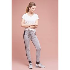 Beyond Yoga Paneled Tavi Joggers ($110) ❤ liked on Polyvore featuring activewear, activewear pants, dark grey and beyond yoga