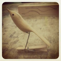 How to make a simple wooden peg bird automata