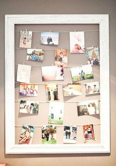 20 Cool DIY Photo Collage for Dorm Suggestions Collage Foto, Photo Collages, Polaroid Foto, Wedding Picture Frames, Wedding Pictures, Diy Gifts For Friends, Home Decor Pictures, Modern Pictures, Design Blog