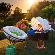 """With the awesome convertible Sunasan™ Bed, you can have it made in the shade or soak up some rays, all with the touch of a finger. The most fun you can have in the sun.<span id=""""mini-upsell"""" data-launch=""""true"""" data-required=""""false"""" data-product=""""Cushions"""" data-masters=""""PV210-2:1""""></span>"""