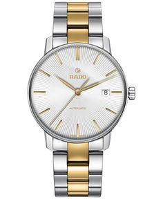 Rado Men's Swiss Automatic Coupole Classic Two-Tone Stainless Steel and Ceramic Bracelet Watch 38mm R22860032