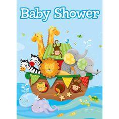 Noah's Ark Baby Shower Invitations (8 pack)