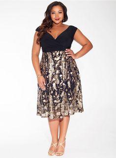 Adelle Dress in Gilded Laurel