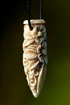 Beautiful bone, stone and wood carvings