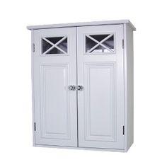 Elegant Home Fashions Dawson Wall Cabinet - White