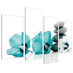 Large Teal Grey and White Lily Floral Canvas Wall Art Pic... https://smile.amazon.com/dp/B00A1SAK2Y/ref=cm_sw_r_pi_dp_x_fNAAyb8GFRXWT