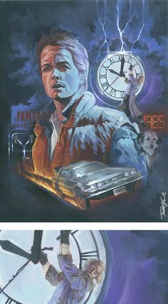 Todd Spence's Back to the Future painting.