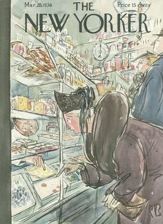 The New Yorker - Saturday, March 28, 1936 - Issue # 580 - Vol. 12 - N° 6 - Cover by : Perry Barlow