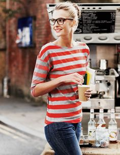 stripes + glasses
