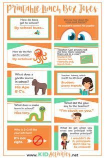 71 Clean Jokes for Kids to Tell at School – Kid Activities Printable lunch box jokes for kids. Simply print them off, cut them out, and send them with your child to give them a laugh at lunchtime. These are funny, school appropriate jokes for kids. School Appropriate Jokes, Funny School Jokes, Funny Jokes For Kids, Funny Pictures For Kids, Silly Jokes, School Humor, Kid Jokes, Kids Humor, Minion Jokes