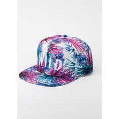 Kill Brand Wildfang Palm Print Wild Snapback | Wildfang ($34) ❤ liked on Polyvore featuring accessories, hats, blue palm, snap back hats, adjustable snapback hats, adjustable hats, 6 panel hat and long hat