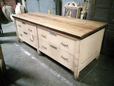 1890's Solid Mahogany Store Counter by CottageTreasuresLV on Etsy