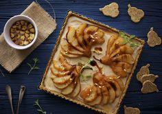 rooibos poached pear tart