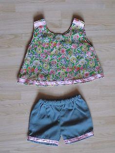 2-Teile-Shirt-mit-passender-Hose-Puppenhose-Puppenshirt-Puppenkleidung