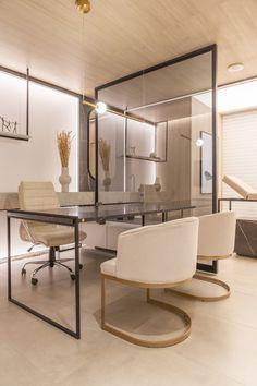 Office Interior Design, Home Office Decor, Office Interiors, Interior Styling, Home Decor, Beauty Room Salon, Clinic Design, Boutique Design, Retro Home