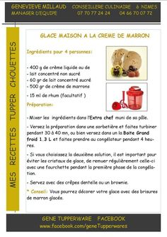 Glace crème marron - Tupperware Microvap Tupperware, Tupperware Recipes, Tupperware Pressure Cooker, Mini Muffins, Eat Dessert First, Food Illustrations, Biscuits, Coco, Food Art