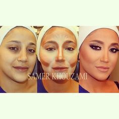 contouring for face | contour and highlighting your face | Makeup - tips, tricks, how to ap ...