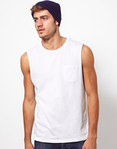 ASOS Sleeveless T-Shirt With Pocket