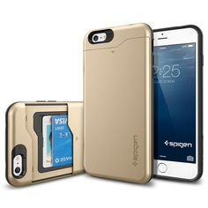 Spigen has unveiled their latest protective case with card slot for iPhone Plus. If you need a versatile protection solution for your iPhone, the Slim Armor Cell Phone Kiosk, Cell Phone Hacks, Iphone 6 Cases, Iphone 6 Plus Case, Phone Case, Reverse Cell Phone Lookup, Apple Watch, Ipod, Cell Phone Companies