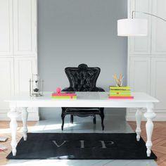 Mesa de comedor blanca Barocco