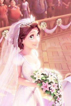 All Disney Princesses, Disney Princess Rapunzel, Disney Princess Pictures, Tangled Rapunzel, Disney Tangled, Disney Films, Disney And Dreamworks, Disney Cartoons, Rapunzel Wedding Dress