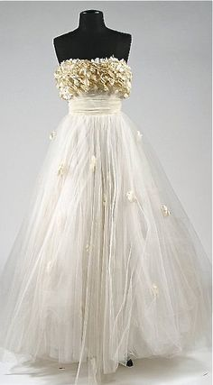 "Edith Head Designed Gown for Elizabeth Taylor's Character in ""A Place in the Sun"" (1951)"