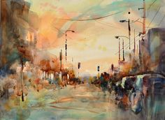3 Landscape Watercolor Painting Tutorials from Fealing Lin #watercolor #paintinglandscapes