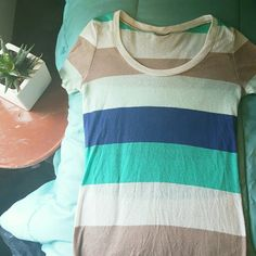 Rue 21 Striped Top Smoke free and pet free home  Offers accepted   Top from Rue 21, used to be one of my favorites.. still in great condition!   No tag. Tags bother my neck, so I usually cut them out.   Slight piling of fabric but not noticeable! Rue 21 Tops