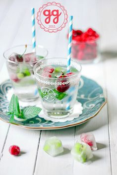 Fruity Ice Cubes for Sangria