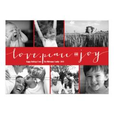 Love Peace Joy Multi Grid Holiday Photo Greetings Personalized Invite. get it on : http://www.zazzle.com/love_peace_joy_multi_grid_holiday_photo_greetings_invitation-161848276862244990?rf=238054403704815742