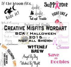 Creative Misfits Creations: BCA / Halloween Wordart