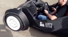 Strati 3D Printed Car Built And Driven At IMTS Chicago Local Motors Strati 3D printed car makes its debut at the International Manufacturing Technology Show in Chicago VIDEO #strati3dprintedcar   #3dprinting   #chicago