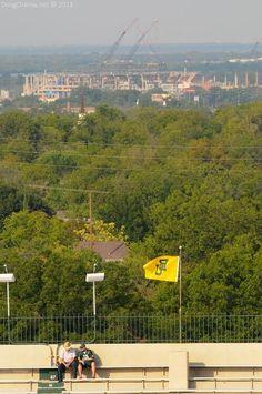 View of #Baylor Stadium (coming 2014) from Floyd Casey Stadium (via baylorstadium on Twitter) #SicEm