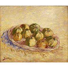 Vincent Van Gogh. Still Life, Basket of Apples 1878