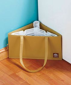 The Hanger Hamper ~ Organize closets and laundry rooms ~ holds wood wire plastic on eBay!