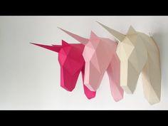2DIY unicorn heads | How to Make Unicorn with MIRROR | IKEA HACK | Free Template | Dollar store 2017 - YouTube