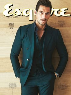 David Gandy is captivatingly handsome on the cover of the November issue of Esquire Mexico and Latin America. Photographed by John Russo wearing (Dolce and Gabbana), David brings class. David Gandy Suit, David Gandy Style, David James Gandy, Gq, Esquire, Famous Male Models, Blazer Outfits Men, Androgynous Models, Male Fashion Trends