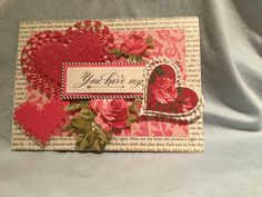 Anna Griffin Juliet Material and heart die cuts.
