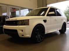 "matte white Range Rover...""stormtrooper"" look"