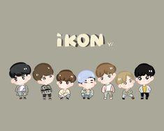 Kim Jinhwan, Hanbin, Ikon Wallpaper, Cartoon Wallpaper, Ikon Member, Love Art, My Love, Anime Art Girl, Chibi