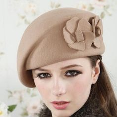 Fedoras Shaping Flower Stewardess Cap Beret
