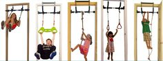 Amazon.com: Gorilla Gym Kids with Indoor Swing, Plastic Rings, Trapeze Bar, Climbing Ladder, and Swinging Rope: Toys & Games