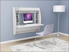 Floating Desk. This would be great for a small bedroom or a multipurpose space!