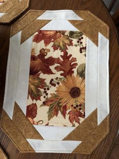 Fall Placemats set of 4 Thanksgiving Placemats Holiday Quilted Placemat Patterns, Thanksgiving Table Runner, Halloween Table Runners, Table Runner And Placemats, Quilt Patterns, Table Topper Patterns, Quilted Table Toppers, Table Runner Tutorial, Table Runner Pattern